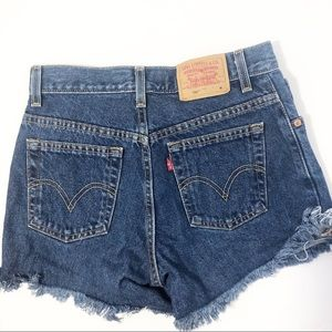 Vintage Levi's 550 High Rise Dark Wash Jean Shorts